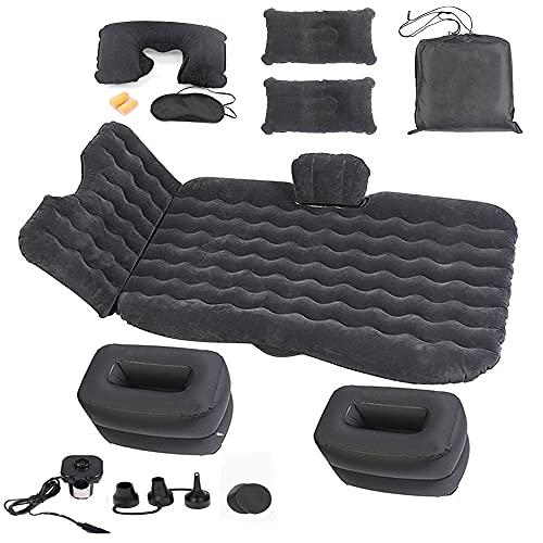 Onirii colchón inflable de aire para coche con bomba de asiento trasero portátil, viajes, camping, día festivo, cama flotante, colchón hinchable, almohadilla para dormir para SUV, RV, camión, minivan/compacto tamaño doble