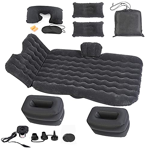 Onirii Inflatable Car Air Mattress Bed with Back Seat Pump Portable Travel,Camping,Vacation,Sleeping Blow-Up Pad fits Car Universal SUV RV,Truck,Minivan, Air Couch with Two Air Pillows