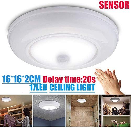 DC6V automatische bewegingsmelder, werkt op batterijen, draadloos, LED-plafondlamp, lamp, 3 W, verlichting, zuiver wit