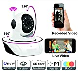 VOLTAC Wireless HD IP WiFi CCTV [Watch Online Demo Right Now] Indoor Security Camera (Support Upto 128 GB SD Card) Model 401559