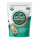 Contains 5 - 14.4 oz ounce pouches of Traditional gluten free organic quinoa Our quinoa is a tasty, natural, nutrient-dense ingredient, complete plant-based protein Each serving contains 6g of vegan protein Substitute our quinoa for your breakfast oa...