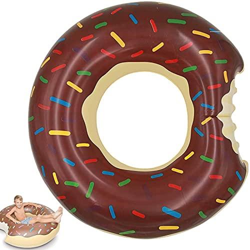 MDJEWV Schwimmring Kinder, Schokolade Donut Schwimmreifen Kinder, Schwimmnudel, Aufblasbare Pool Spielzeug, luftmatratze Kinder, Luftmatratze Pool Kinder, Schwimmringe für Wasserspielzeug