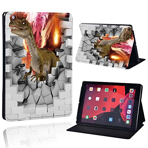 Slim Leather Case For Ap Ipad Mini 1/2/3/4/5/ Ipad 2/3/4 /Air 1/2/3 /Pro Tablet Stand Protective Case+Free Pen (Color : Dinosaur, Size : IPad Pro 11)