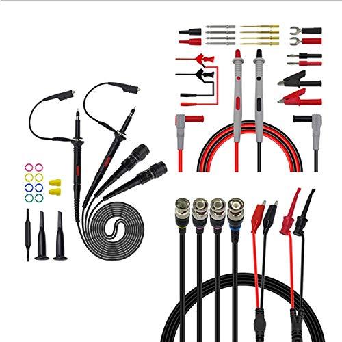 Dhmm123 Contribución Vinculante Kit de Cables de Prueba de Prueba del multímetro de Plomo Kit de osciloscopio sonda reemplazable multifunción Bananina