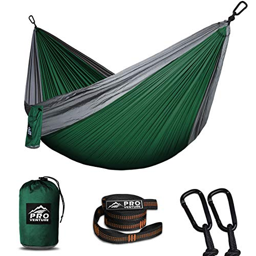Single Camping Hammocks - Hammock, Premium Straps + Carabiners - Lightweight and Compact Parachute Nylon. Backpacker Approved and Ready for Adventure!