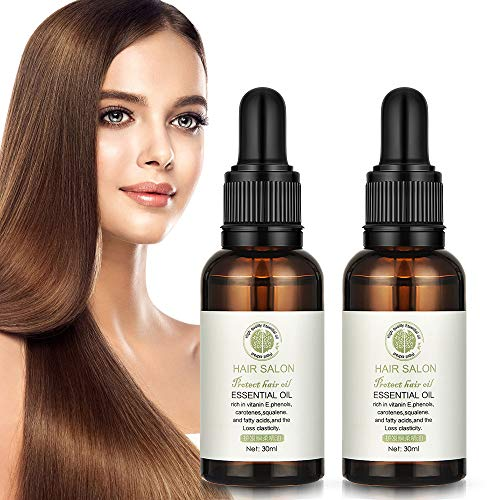 Hair Essential Oil Hailicare Jojoba Oil Hair Serum Hair Salon Essential Oil Hair Care Serum Leave in Treatment and Conditioner for Damaged Hair, Giving Shine (2 Pack)