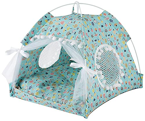 DHGTEP Cesta Portátil para Gatos, Red Plegable para Proteger a Los Gatos contra Los Mosquitos y Transpirable, Refugio para Mascotas en la Playa de Verano y para el Coche de Camping