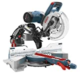 Bosch CM10GD Compact Miter Saw - 15 Amp Corded 10 in. Dual-Bevel Sliding Glide Miter Saw with...
