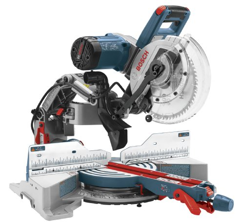 Bosch CM10GD Compact Miter Saw - 15 Amp Corded 10 Inch Dual-Bevel Sliding Glide Miter Saw with 60-Tooth Carbide Saw Blade , Blue