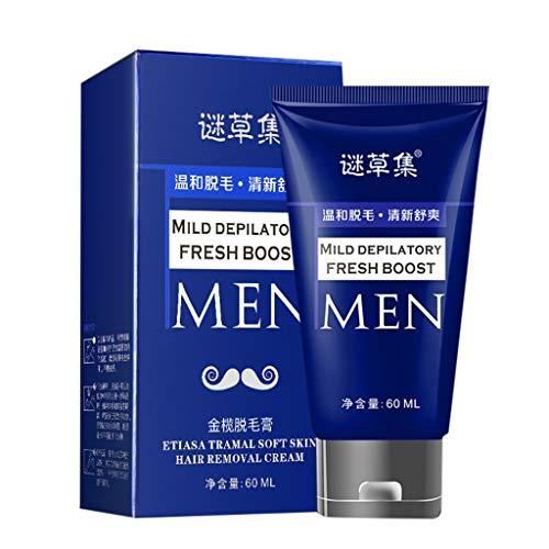 Naturkosmetik Rasierschaum für die Pflege und den Schutz der Haut bei Nassrasuren, sanfter Schaum für eine schonende Rasur für Männer, Bart Enthaarungscreme 60 ml