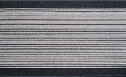 ID Mat 673013 Milleraie tapijtloper, polyamidevezel/latex, 3000 x 67 x 0,3 cm 0,67 x 30 m grijs.