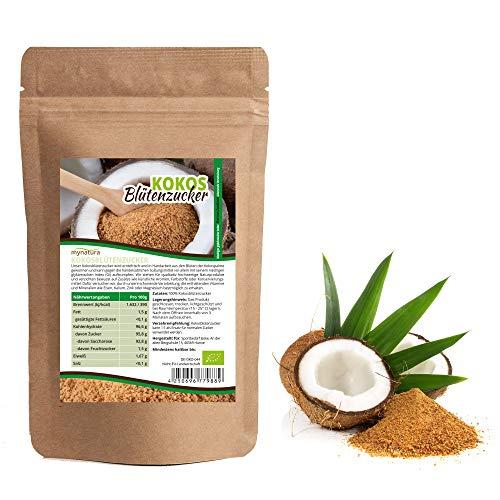 Mynatura Bio Kokosblütenzucker 1000g I 100% rein I Zuckerersatz I Kokospalme I Niedriger Glykämischer Index I Naturbelassen I A Qualität Kokosblütenzucker | Nährstoffreich BIO (DE-ÖKO-044) (( 1000g ))