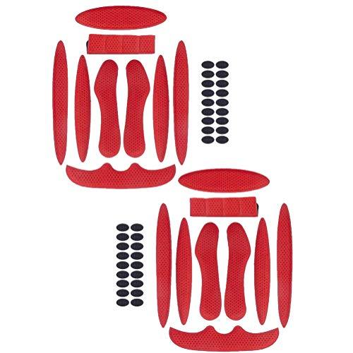 2 almohadillas de espuma para casco de bicicleta, almohadillas de repuesto de esponja de protección anticolisión universales para kits de acolchado para cascos de motocicleta y bicicleta