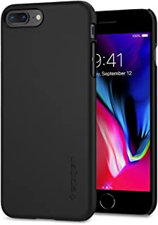 【Spigen】 スマホケース iPhone8 Plus ケース 対応 レンズ保護 超薄型 超軽量 シン・フィット 055CS22238 (ブラック)