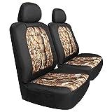 Pilot Automotive SCT-445CA Black/Tan Camo Canvas Seat Covers - 6 Pieces, 1 Pack