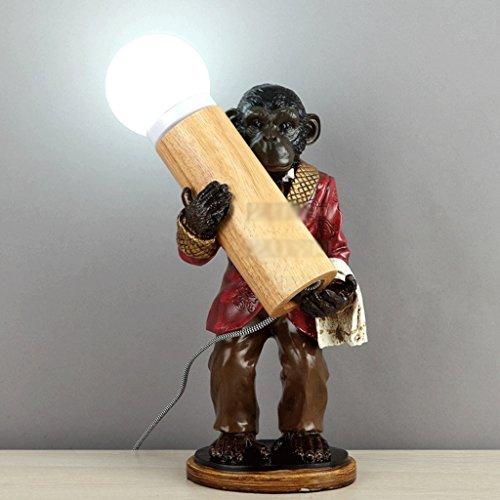 lampe de table lampe divertissement bar cadeau en bois E14 A+ (Color : #B)