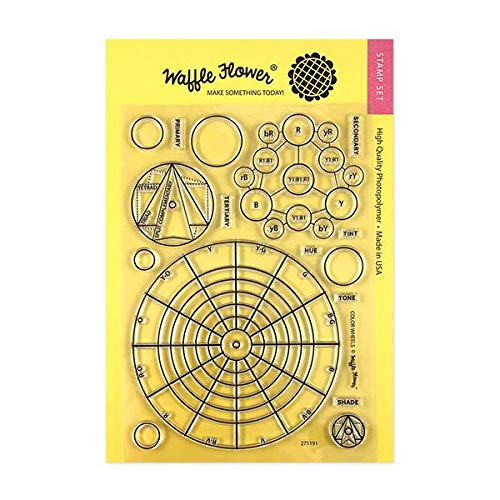 Waffle Flower Color Wheels Stamp Set - Color Mixing Made Easier with Our Color Wheels Combo. Use This Set to Create Your Customized Color Mixing Wheels for Future Reference.