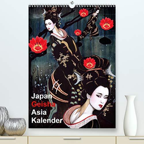 Geisha Asia Japan Pin-up Kalender (hochwertiger DIN A2 Wandkalender 2021, Kunstdruck in Hochglanz)