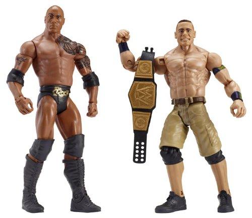 WWE Série 24 Figurines The Rock et John Cena