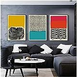 """Surfilter Impresión en lienzo Carteles e impresiones geométricos abstractos multicolores Cuadros artísticos de pared Decoración del hogar minimalista moderna nórdica 15.7"""" x 23.6"""" (40"""