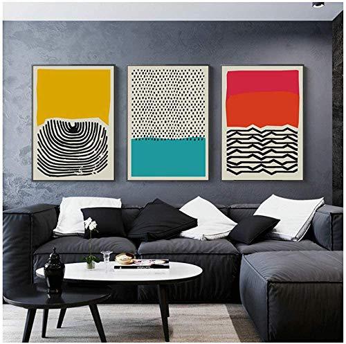 Surfilter Impresión en lienzo Carteles e impresiones geométricos abstractos multicolores Cuadros artísticos de pared Decoración del hogar minimalista moderna nórdica 19.6& rdquo; x 27.5& rdquo; (