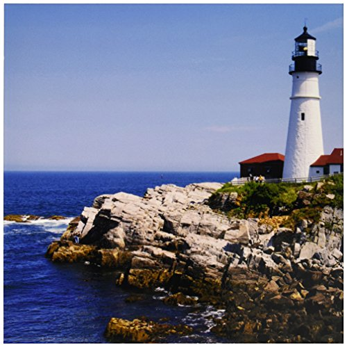 3dRose ct_90737_4 Portland Head Leuchtturm, Cape Elizabeth ME - US20 KRS0002 - Keith und Rebecca Snell - Keramikfliese, 30,5 cm