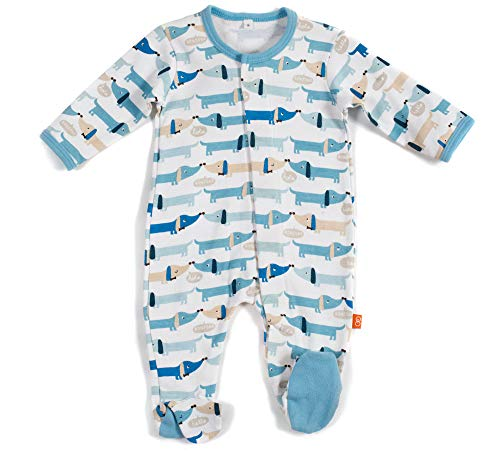 Magnificent Baby Baby Boys' Footie, Blue Hot Dog, 0-3M (8-12 lb)