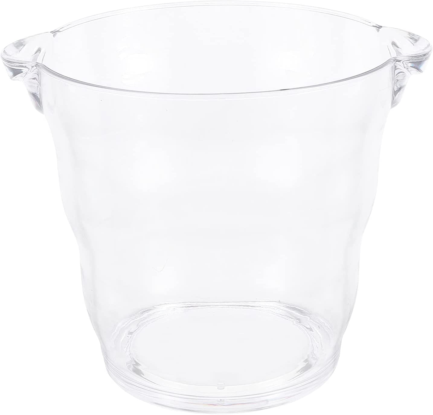 VOSAREA Acrylic Ice Bucket Clear Large discharge sale Plastic Portable Beer Be Cheap sale