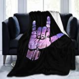 ASL I Love You Sign Language Ultra Soft Flannel Fleece All Season Light Weight Living Room/Bedroom Warm Blanket