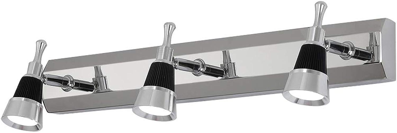 Spiegel Scheinwerfer Moderne minimalistische Edelstahl schütteln Kopf Spiegel Schrank Licht