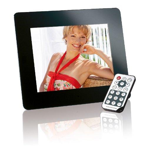 Intenso Mediadirector Digitaler Bilderrahmen (20,3cm (8 Zoll) Display, SD Kartenslot, Video-Function, Fernbedienung) schwarz