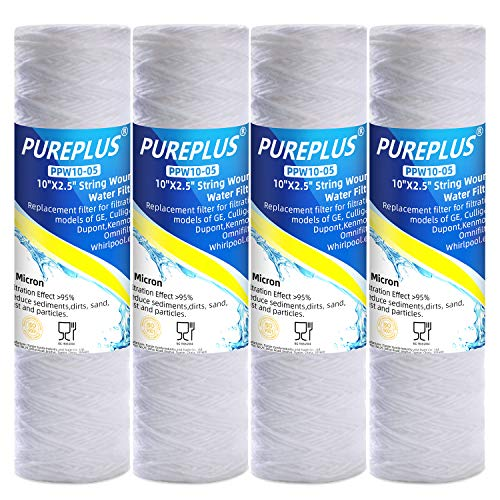 """5 Micron 10""""x2.5"""" Whole House String Wound Sediment Filter for"""