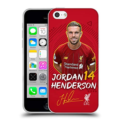 Oficial Liverpool Football Club Jordan Henderson 2019/20 Primer Equipo Grupo 1 Carcasa de Gel de Silicona Compatible con Apple iPhone 5c
