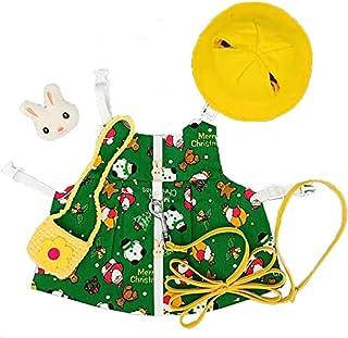 IRYNA zestaw uprzęży króliczek i smyczy z czapką torba królik sukienka piękny kostium świąteczny dla świnki morskiej szyns...