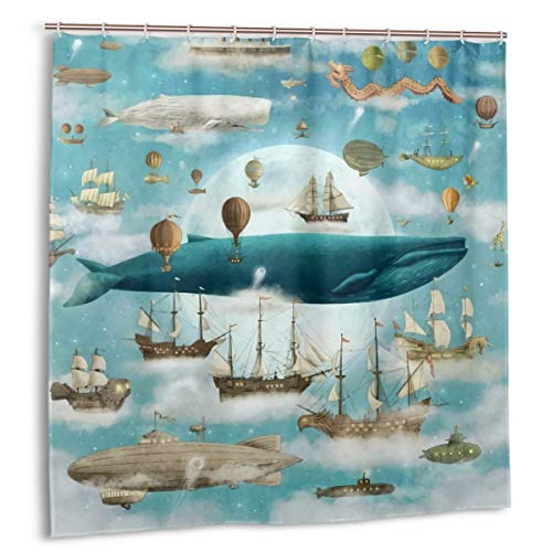 Ocean Meets Sky Shower Curtain