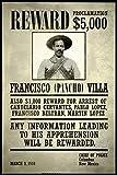 Wanted Francisco Pancho Villa Cool Wall Decor Art Print Poster 24x36