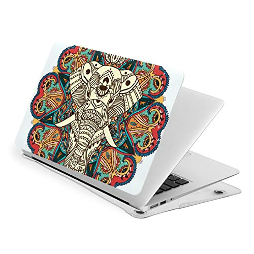 MacBook Air 13 Inch Case Aztec Elephant Fit A1369 A1466 Laptop Slim Hard Shell Plastic Protective Cover