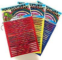 R&F srls Braccialetti Porta Fortuna BRASILIANI 1 blister da 100 Filini Multicolore . Colore cartoncino casuale