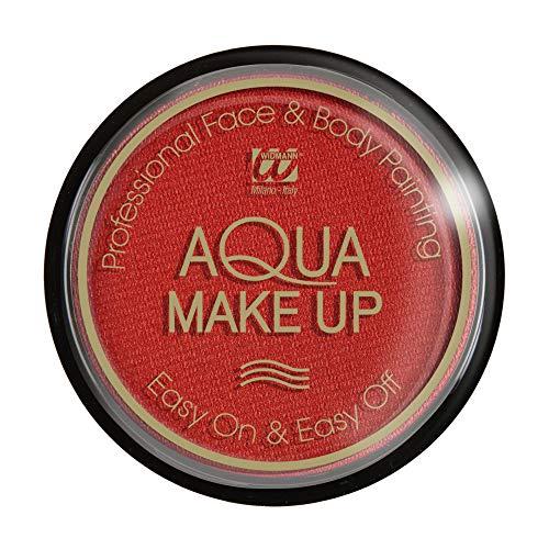 Widmann Aqua maquillage métallisé unisex-child, rouge, 15 g, vd-wdm9288g