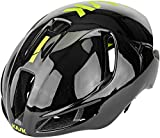 Kask Utopia - Casco de Bicicleta para Adulto, Unisex, Color Negro y Amarillo