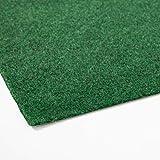 Rasenteppich Farbwunder Pro | Balkonteppich | Kunstrasenteppich für Terrasse, Balkon und Freizeit | Erhältlich in 7 Farben (100 x 100 cm, Grün)