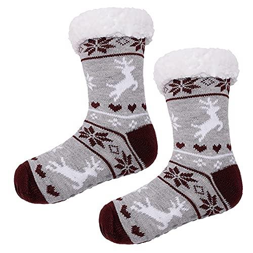 Women's Christmas Holiday Socks Cotton Knit Crew Xmas Socks for Girls Novelty Christmas Gifts