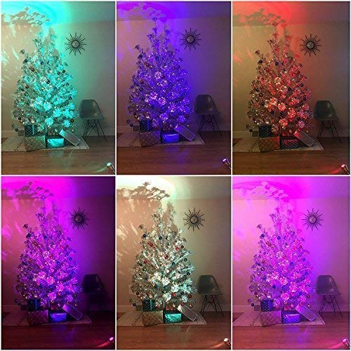 TreeTronics Color Wheel 2.0 – for Vintage Aluminum Christmas Tree - Mid Century Modern – Artificial Retro, MCM Xmas (Silver)