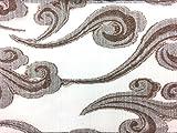 Streifen Chiffon Stoff 147,3cm Ansätzen Silber