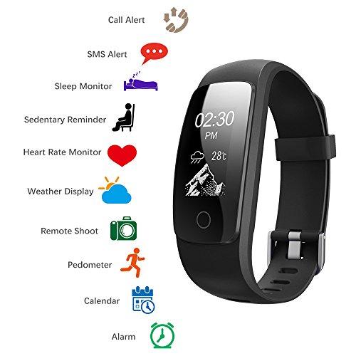 XCSOURCE® Neue ID107 Plus Smart Armband Herzfrequenz Monitor Bluetooth Sportband Uhr Fitness Tracker SMS/Call Alert AC837