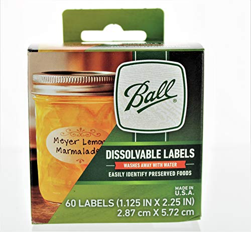 Ball Dissolvable Canning Labels