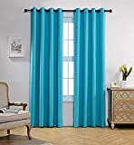 Classy 'N' Cozy Faux Silk Grommet Top Curtain Panel Door Curtains, 7 feet