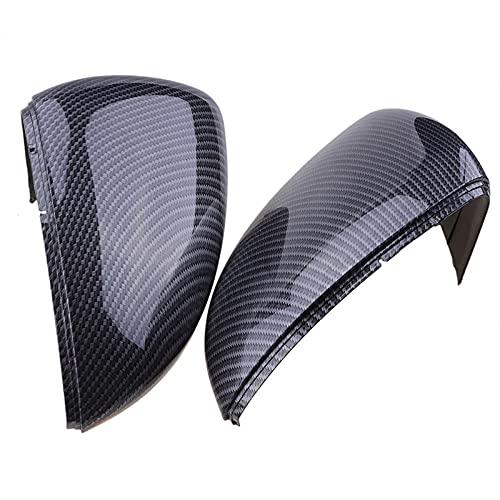 Cubierta de espejo retrovisor con patrón de fibra de carbono, cubierta de espejo lateral para VW Golf 7 GTI MK7 2014-2018, reemplazo de accesorios de coche