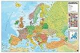 Grupo Erik GPE5045 Poster Mappa Europa Es Fisico Politico, carta, Multicolore, 91 x 61,5 x 0,1 cm