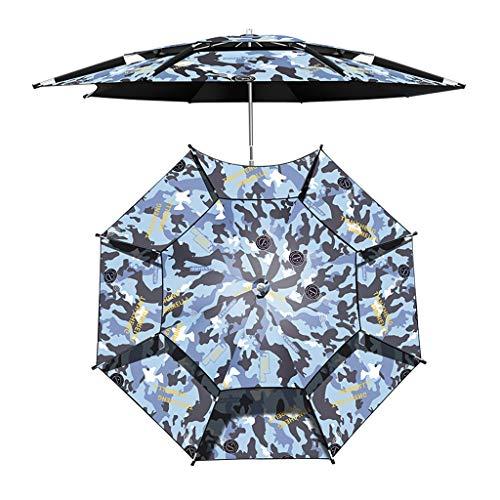 Paraguas Protector Solar de Pesca de Camuflaje, Poste de Paraguas Ajustable Universal, paño Grueso de Goma Negra para Paraguas de 4 Capas, enfriamiento con Protector Solar y prevención de tormentas